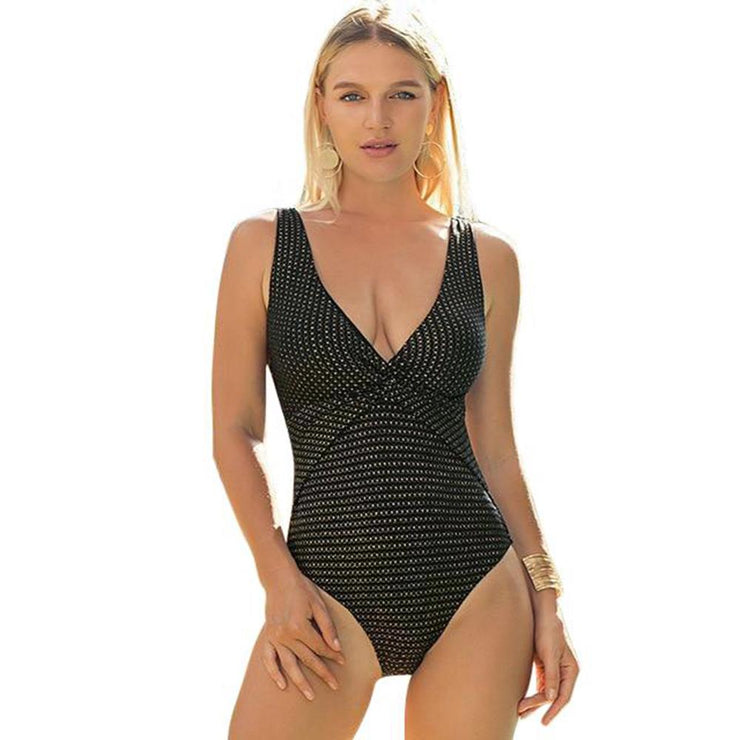 Alao V Neck One Piece One Piece Trekeffect Black S