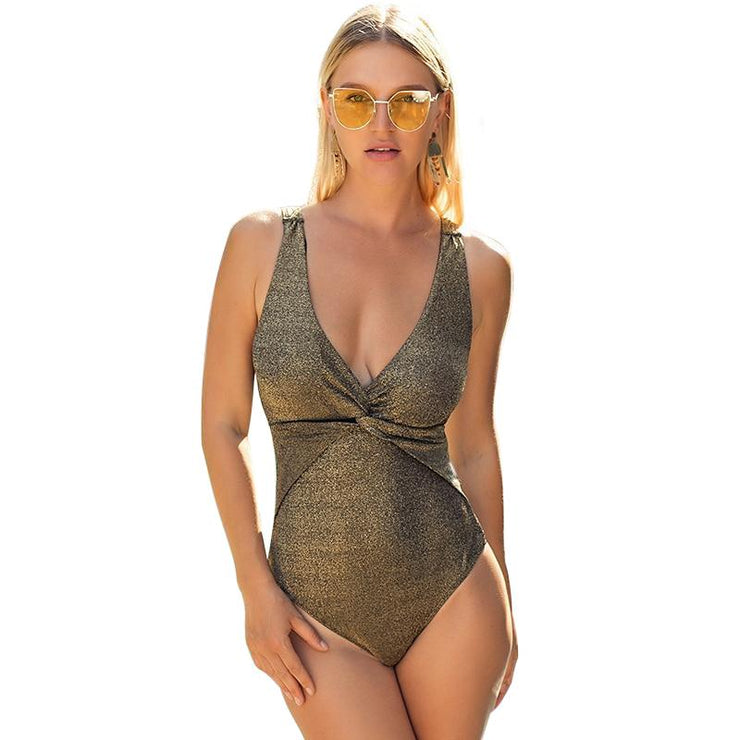 Alao V Neck One Piece One Piece Trekeffect Gold L
