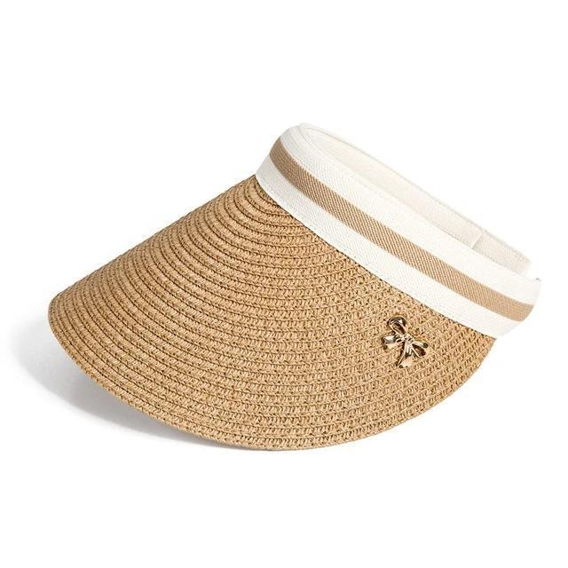 Mazo Straw Bowknot Beach Hat Hats Trekeffect Brown