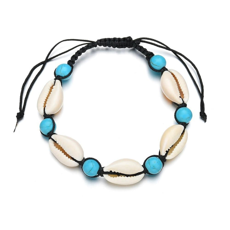 Blue Bead Anklet Beach Jewelry Trekeffect Blue