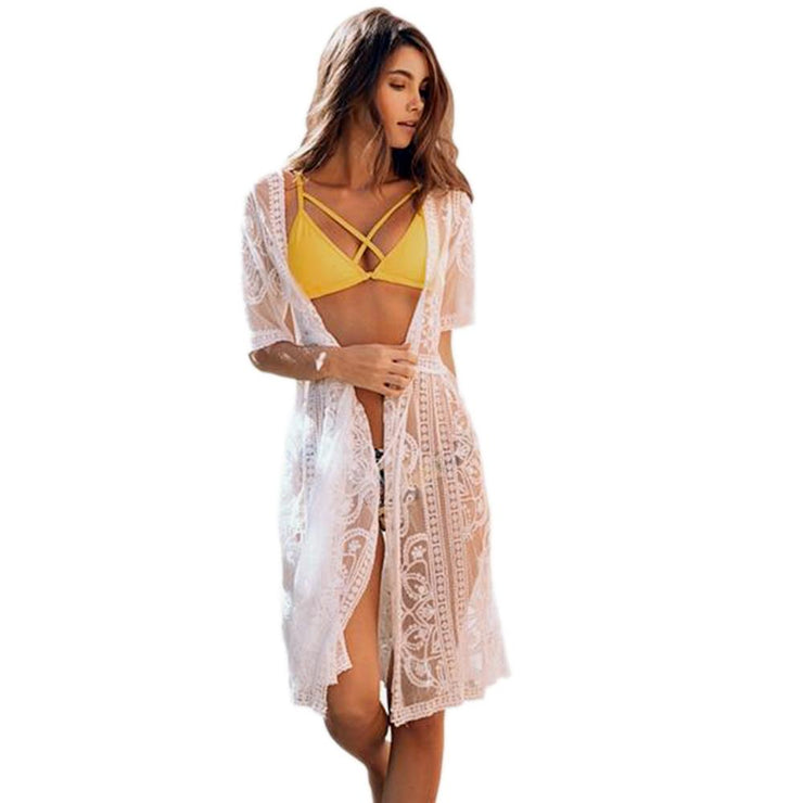 Batan White Waves Cover Up Cover-ups Trekeffect