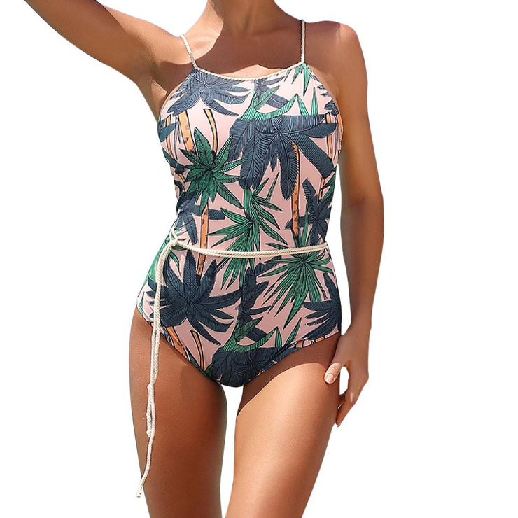 Elmore Belted Floral One Piece