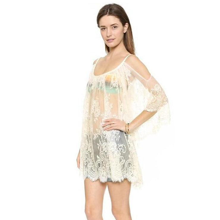 Praia Beach Cover Up Cover-ups Trekeffect White L