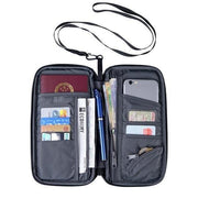 Passport Card Wallet Travel Organizer Wallet Passport ID Card Holder Ticket Credit Card Bag Case Trekeffect Black