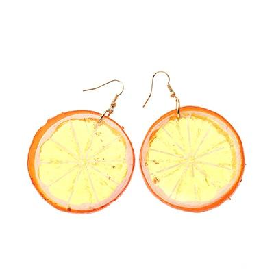 Tropical Fruit Earrings Beach Jewelry Trekeffect Orange