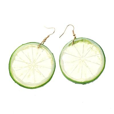 Tropical Fruit Earrings Beach Jewelry Trekeffect Green
