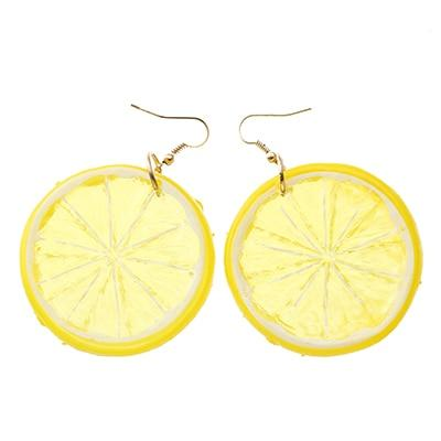 Tropical Fruit Earrings Beach Jewelry Trekeffect Yellow