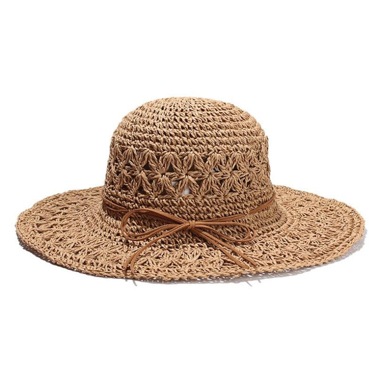 Vallarta Crochet Straw Hat Hats Trekeffect Brown