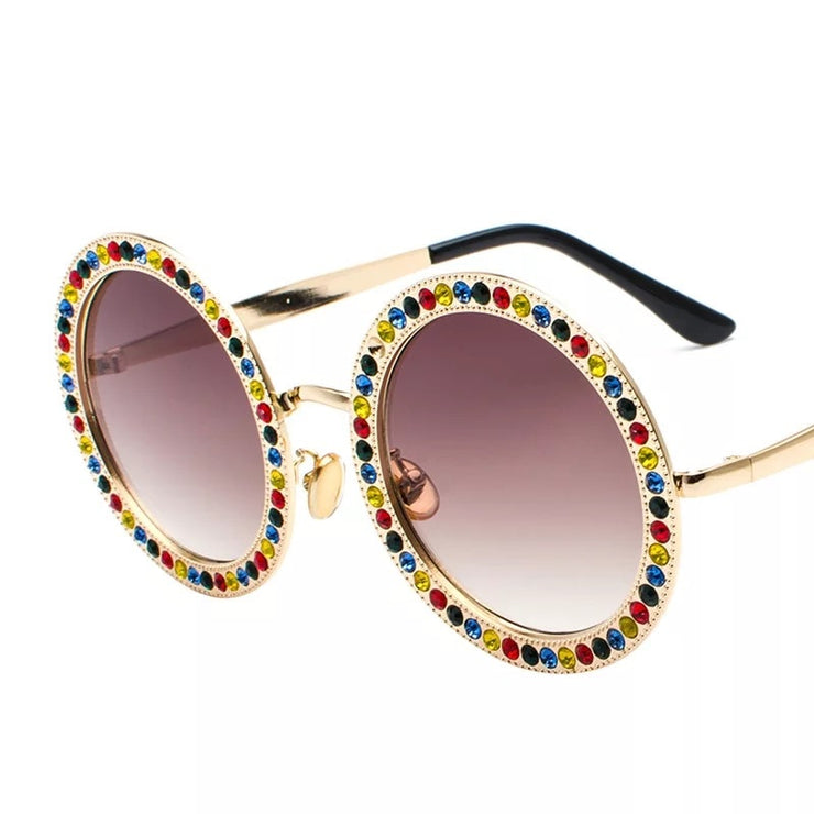 Crystal Stones Sunglasses Brown Trekeffect