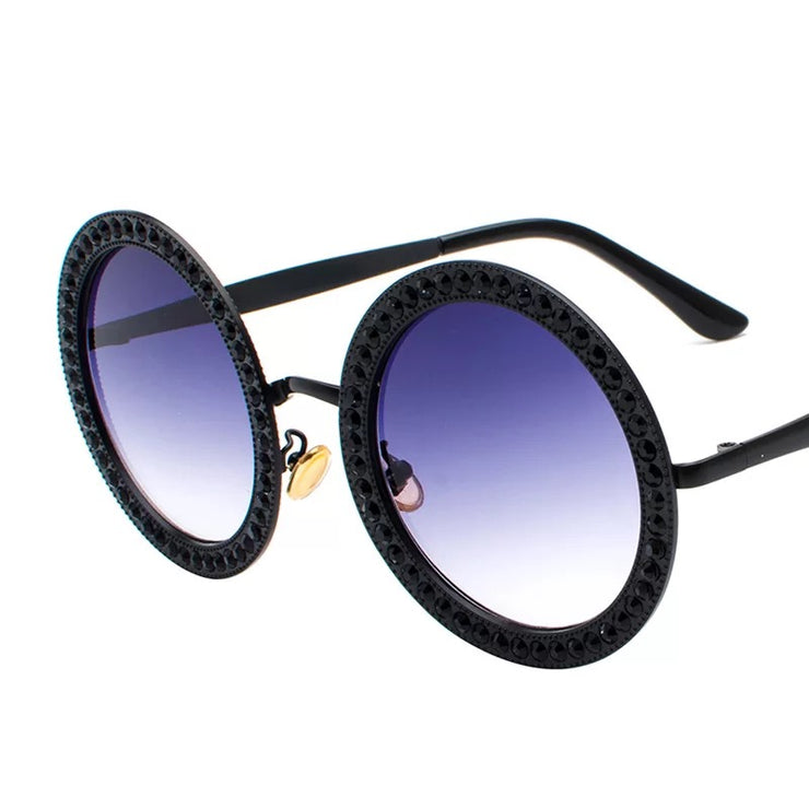 Crystal Stones Sunglasses Black Trekeffect