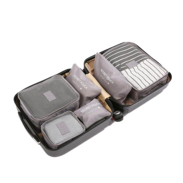 Travel Packing Cube Organizer Travel accessories Trekeffect Gray