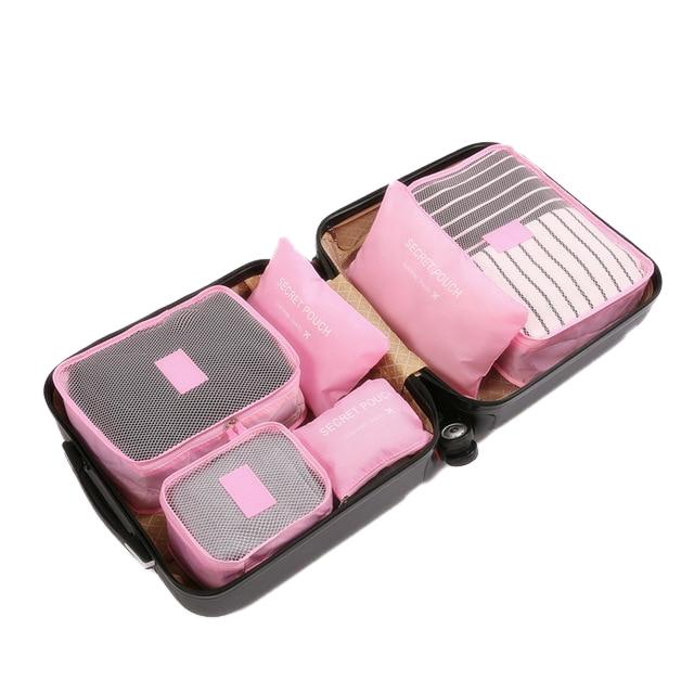 Travel Packing Cube Organizer Travel accessories Trekeffect Pink