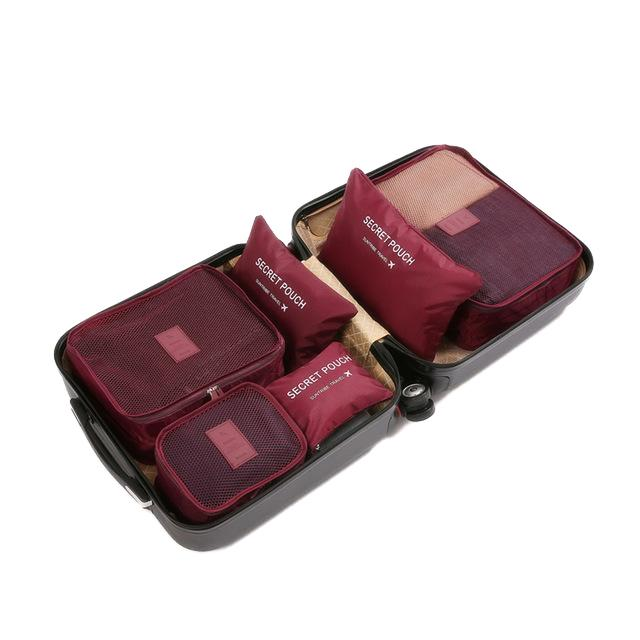 Travel Packing Cube Organizer Travel accessories Trekeffect Red