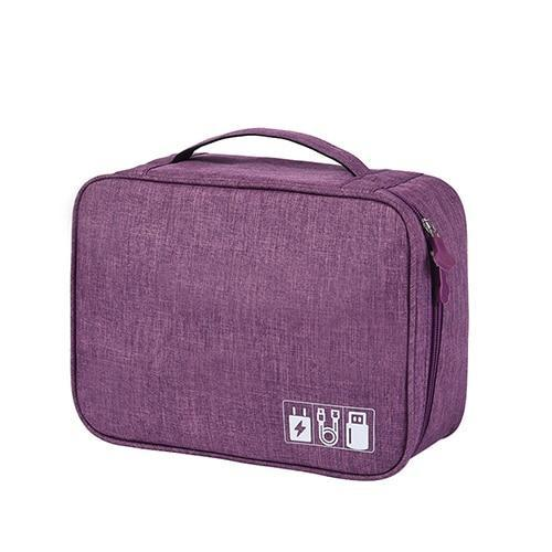 Waterproof Gadget Pouch Organizer Travel accessories Trekeffect Purple