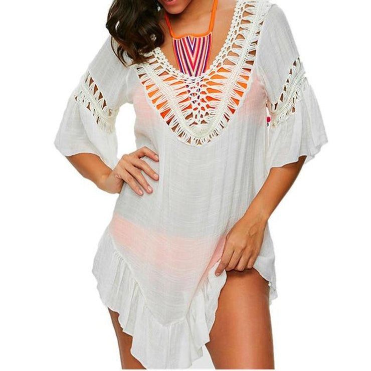 Calicoan Crochet Cover Up Cover-ups Trekeffect White