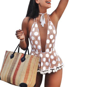 Dorset Dotted One Piece One Piece Trekeffect Pink L