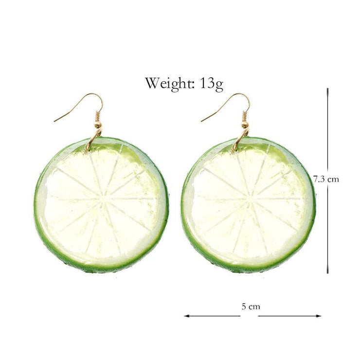 Tropical Fruit Earrings Beach Jewelry Trekeffect
