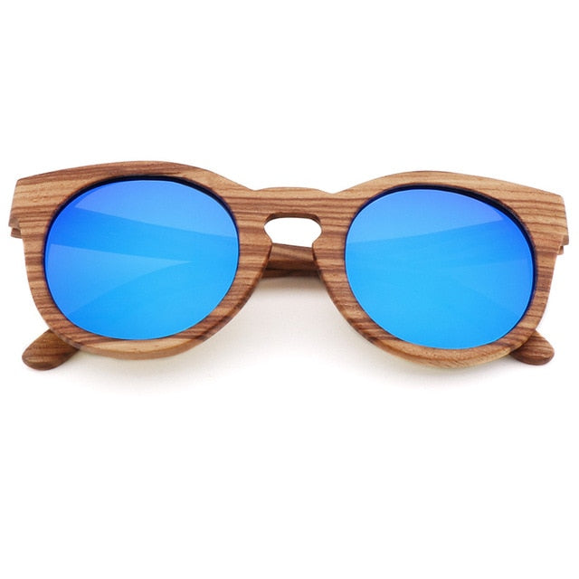 Bamboo Polarized Sunglasses Blue Trekeffect