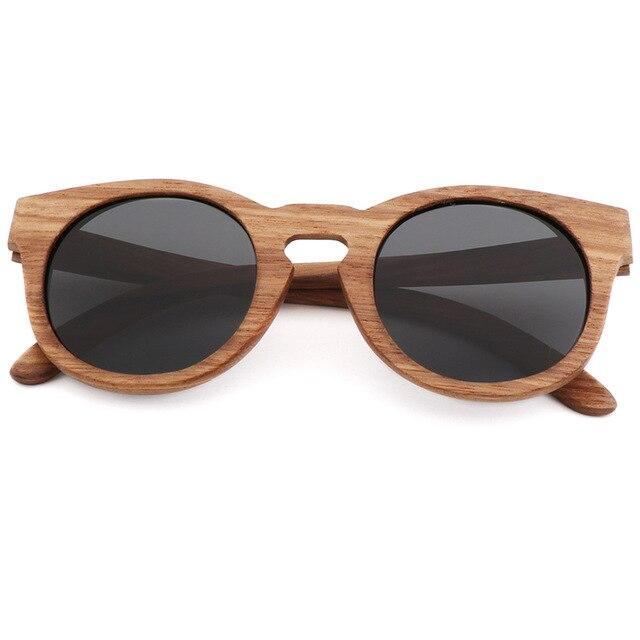 Bamboo Polarized Sunglasses Back Trekeffect