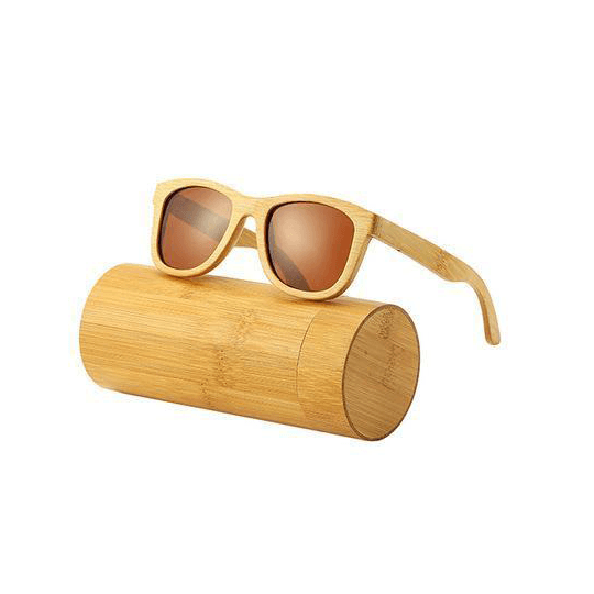 Beam Polarized Wooden Sunglasses Sunglasses Trekeffect Brown