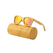 Beam Polarized Wooden Sunglasses Sunglasses Trekeffect Red