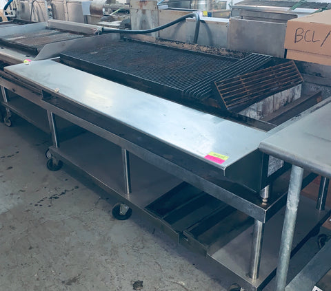 "Heavy Duty 72"" Gas Radiant Charbroiler W/ ALL Stainless Stand"