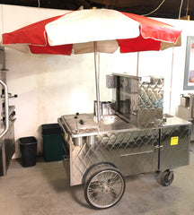 Hot Dog Cart w/ Umbrella - LP Gas and Water Hookups