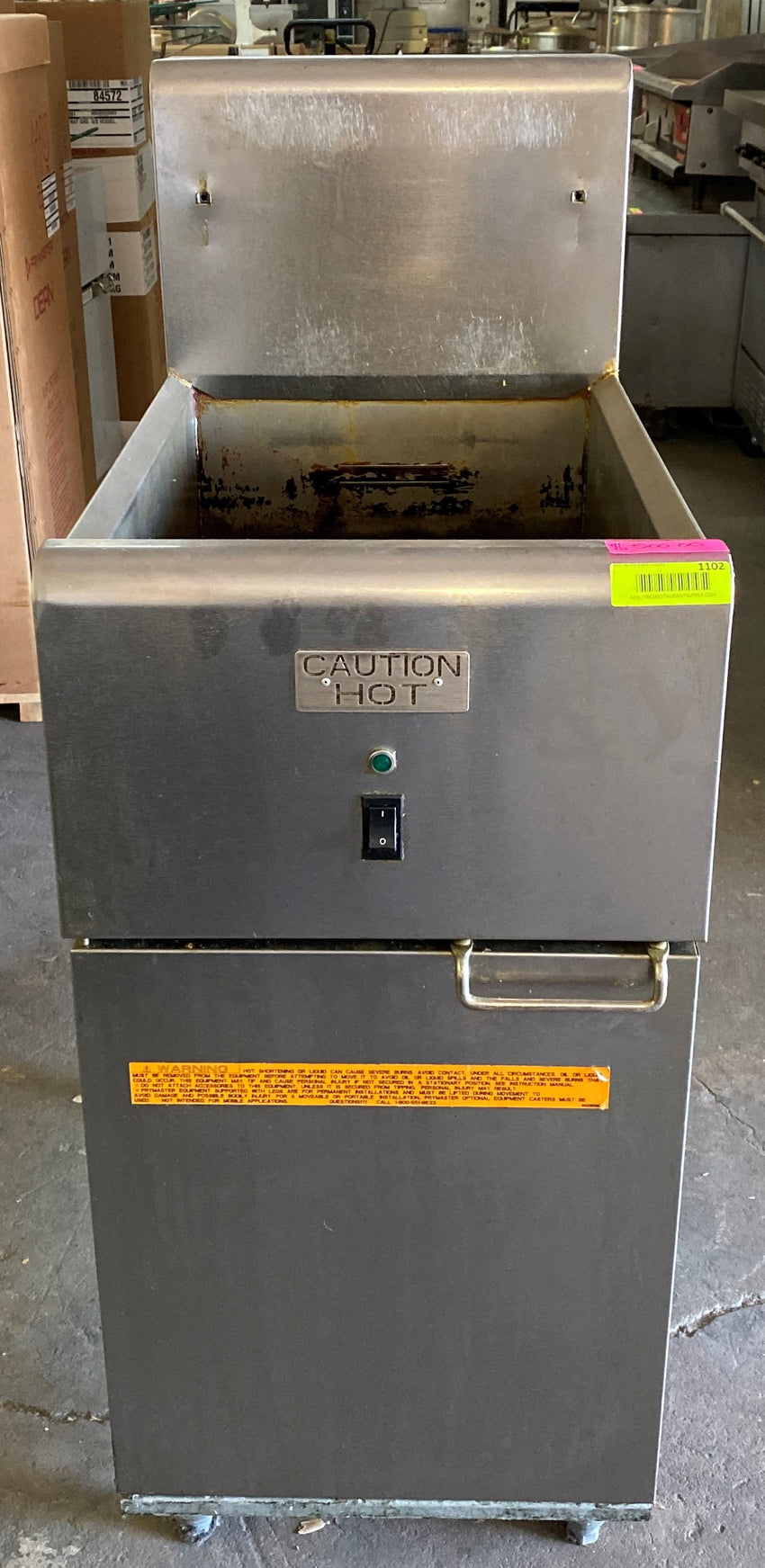 Anets SLG40 Natural Gas 40 lb. SilverLine Fryer - 90,000 BTU