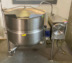 Cleveland KGL-40-T Natural Gas 40 Gallon Tilting 2/3 Steam Jacketed Kettle - 140,000 BTU