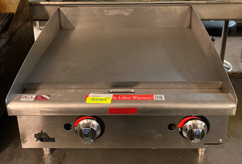 "Star 624MF 24"" Gas Griddle w/ Manual Controls - 1"" Steel Plate"