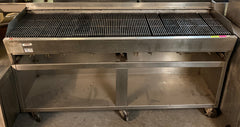 "Rankin-Delux 7223-C 72"" Commercial Natural Gas Char Rock Broiler"