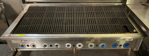 "Rankin Delux RB-860 60"" Natural Gas Radiant Char Broiler - 145,000 BTU, 10 Burner"