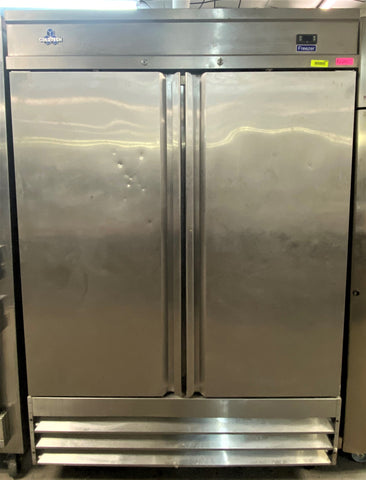 Coldtech Stainless Steel Reach-In 2 Door Commercial Freezer