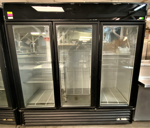 "True GDM-72F-HC~TSL01 78"" Three Section Display Freezer w/ Swing Doors - Bottom Mount Compressor, 115/208-230v/1p"