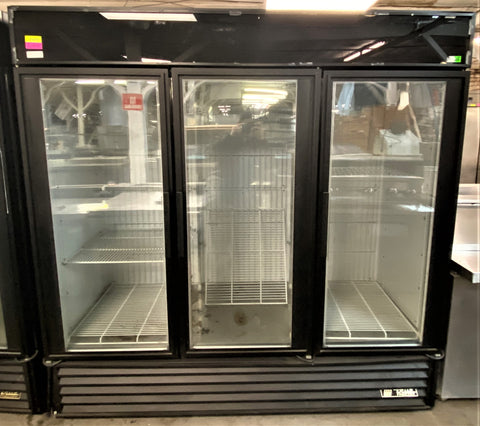"True GDM-72F 78"" Three Section Display Freezer w/ Swing Doors - Bottom Mount Compressor, 115/208-230v/1ph"