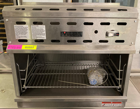 "Vulcan VICM24 24"" Natural Gas Cheese Melter w/ Infrared Burner, Stainless"