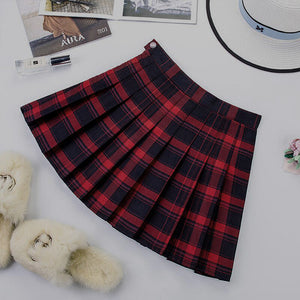 Harajuku High School Plaid Mini Skirt
