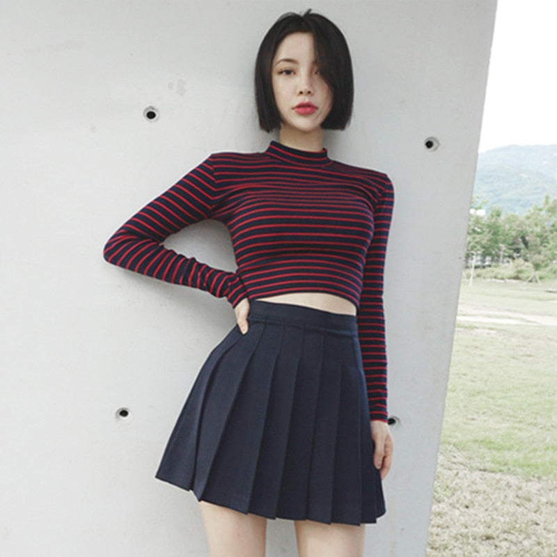 Harajuku Long Sleeves Crop Top