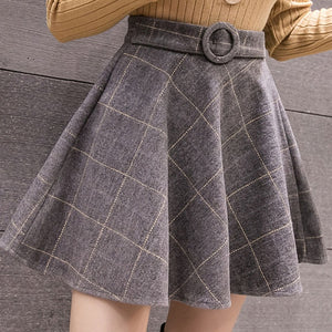 NEW! Harajuku Mini Plaid Woolen Skirts