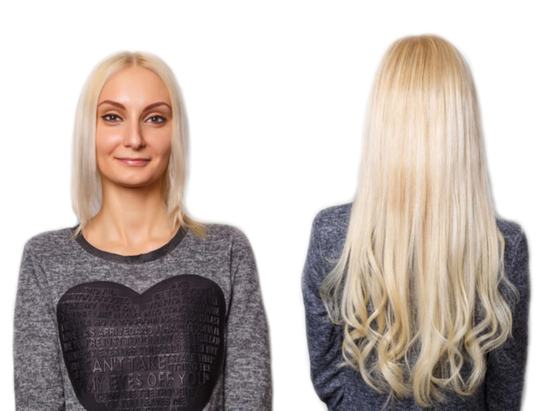 clip in hair extensions before and after