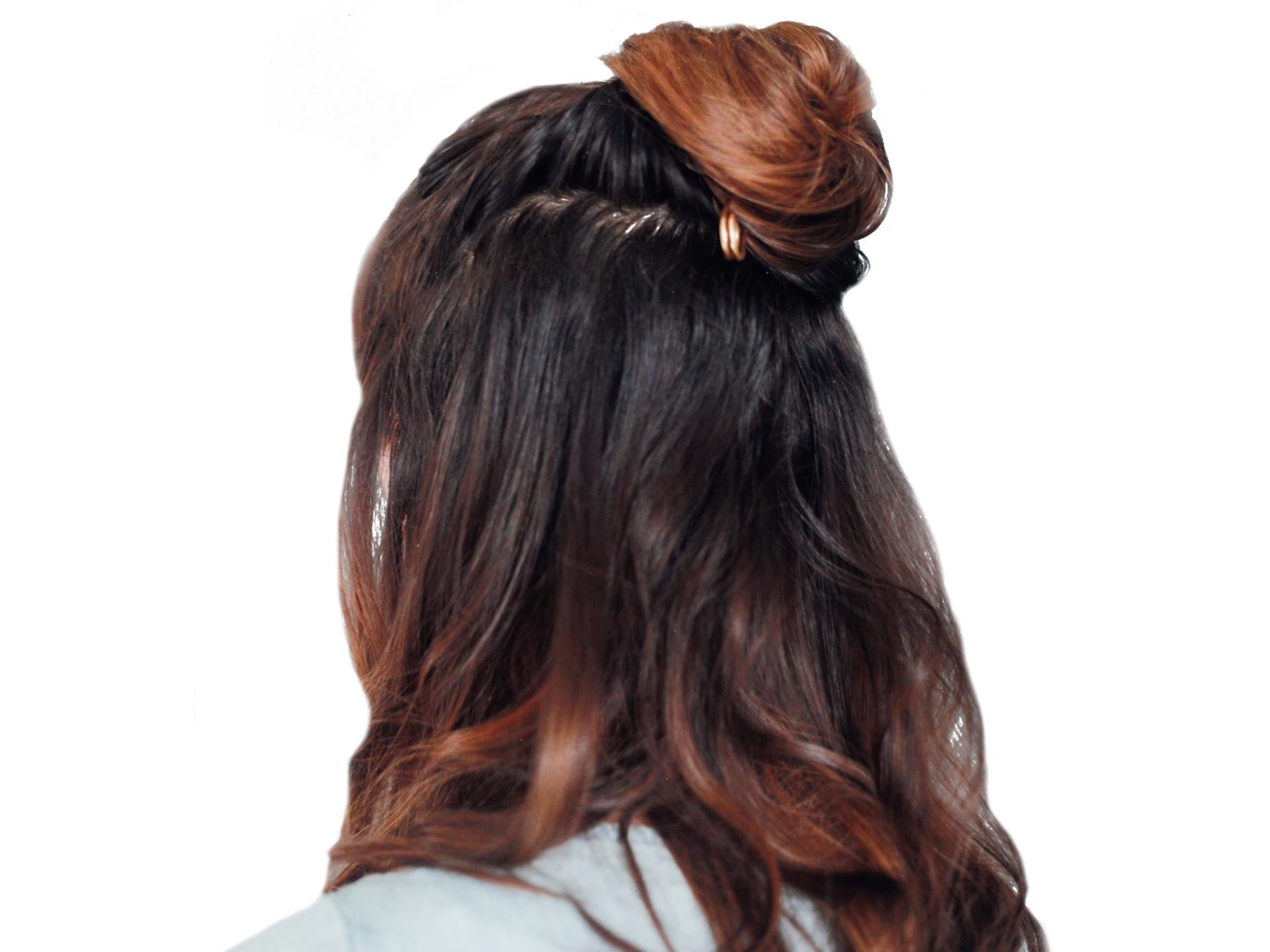 half-up knot hairstyle