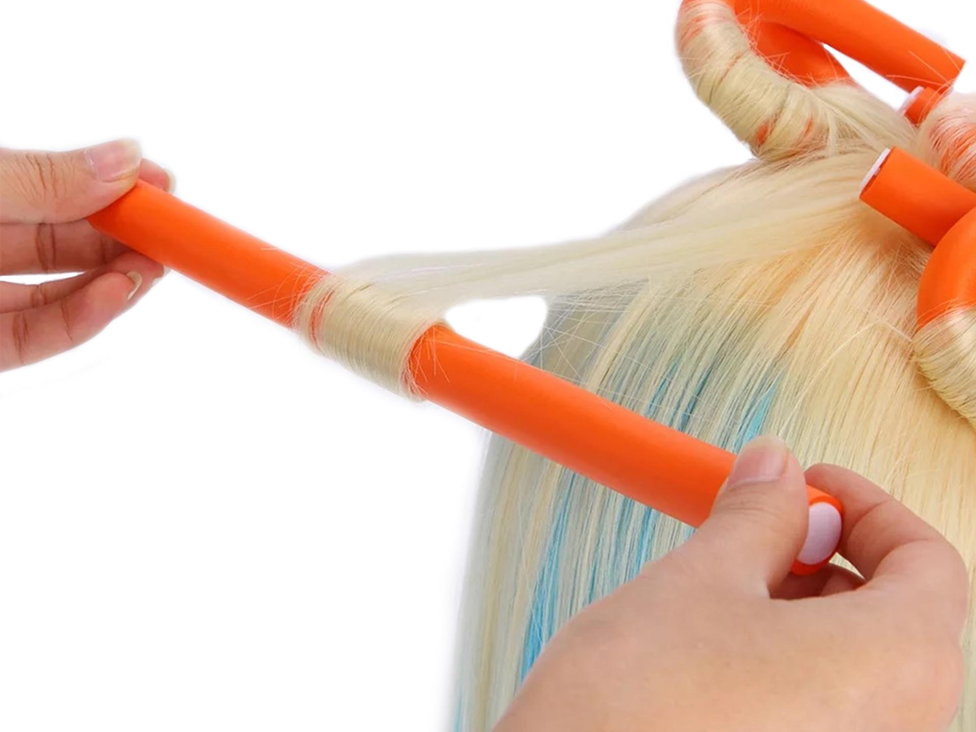 styling hair with flexi rods