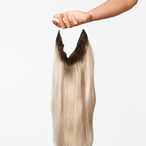 Dark Cool Blonde ColorMelt Halo Hair Extensions