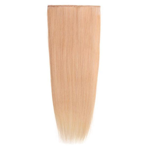 Lace-Weft Clip In Remy Human Hair Extensions - Beach Blonde