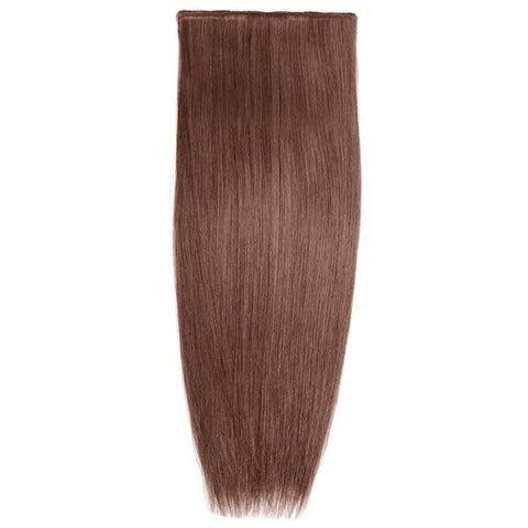 Lace-Weft Clip In Remy Human Hair Extensions - Chestnut Brown