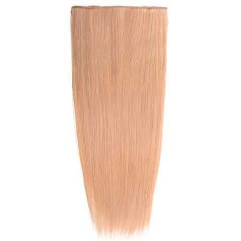 Lace-Weft Clip In Remy Human Hair Extensions - Honey Blonde