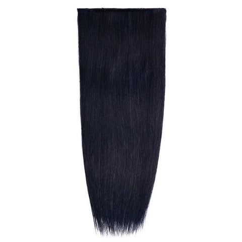 Lace-Weft Clip In Remy Human Hair Extensions - Jet Black