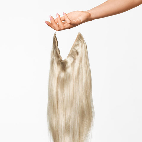 Light Grey Halo Hair Extensions