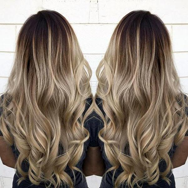 Seamless Clip In Remy Human Hair Extensions - Balayage Brown-Champagne Blonde - Mhot Hair