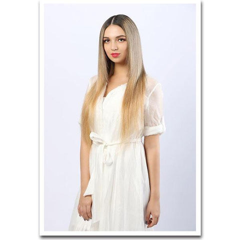 Seamless Clip In Remy Human Hair Extensions - Honey Blonde